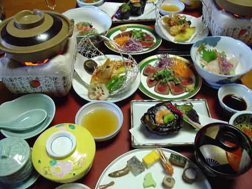 Un repas typique de ryokan, pour être sûr de bien vous remplir l'estomac.