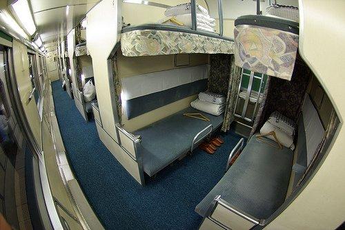 Les couchettes du train Nihonkai, reliant Osaka et Aomori.