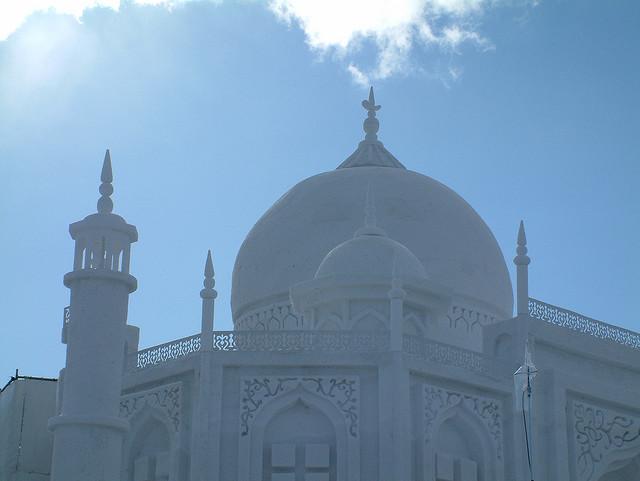 Taj Mahal made out of snow