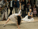 A dance performance at Design Festa in Tokyo